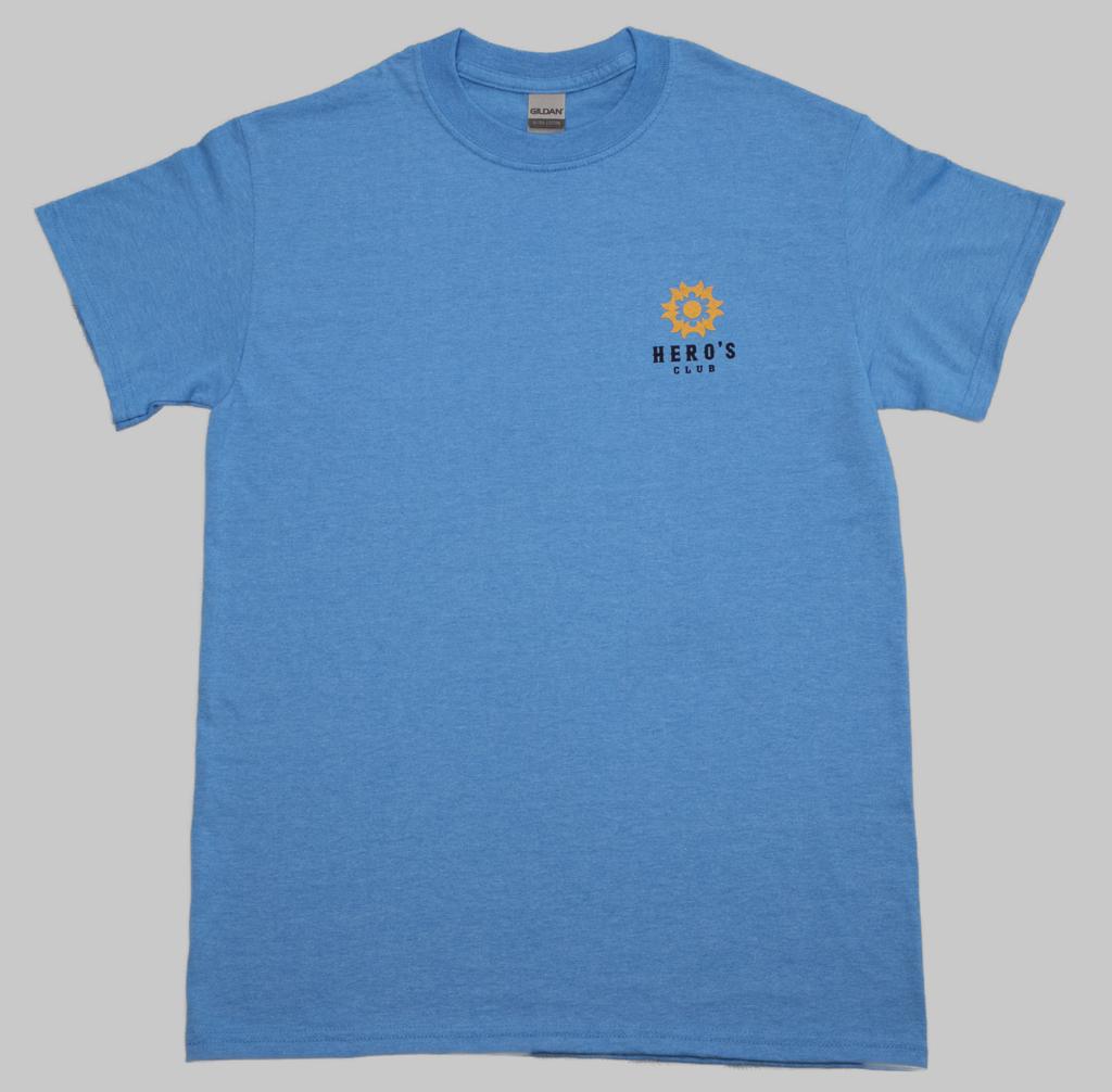 Hero's Club T-shirt 2021Summer BLUE/ヒーローズクラブTシャツ 2021夏 ブルー